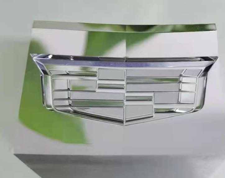 五轴CNC镜面加工—车标