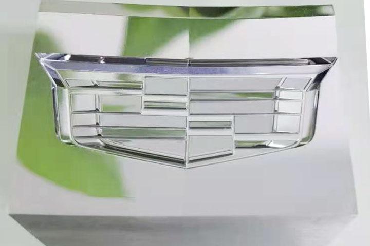 五轴镜面抛光加工—车标
